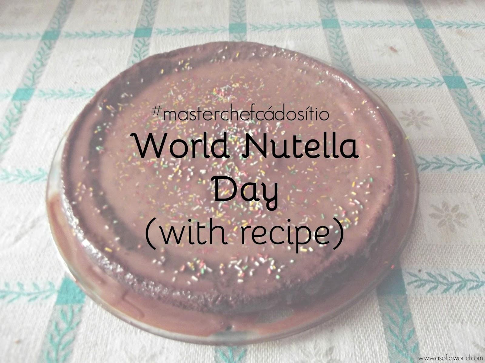 #masterchefcádosítio presents: bolo de chocolate com cobertura de Nutella