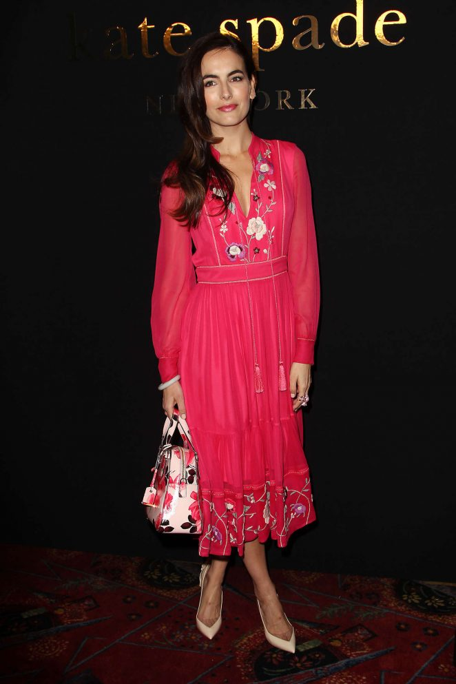 American Actress Camilla Belle Stills In Red Dress