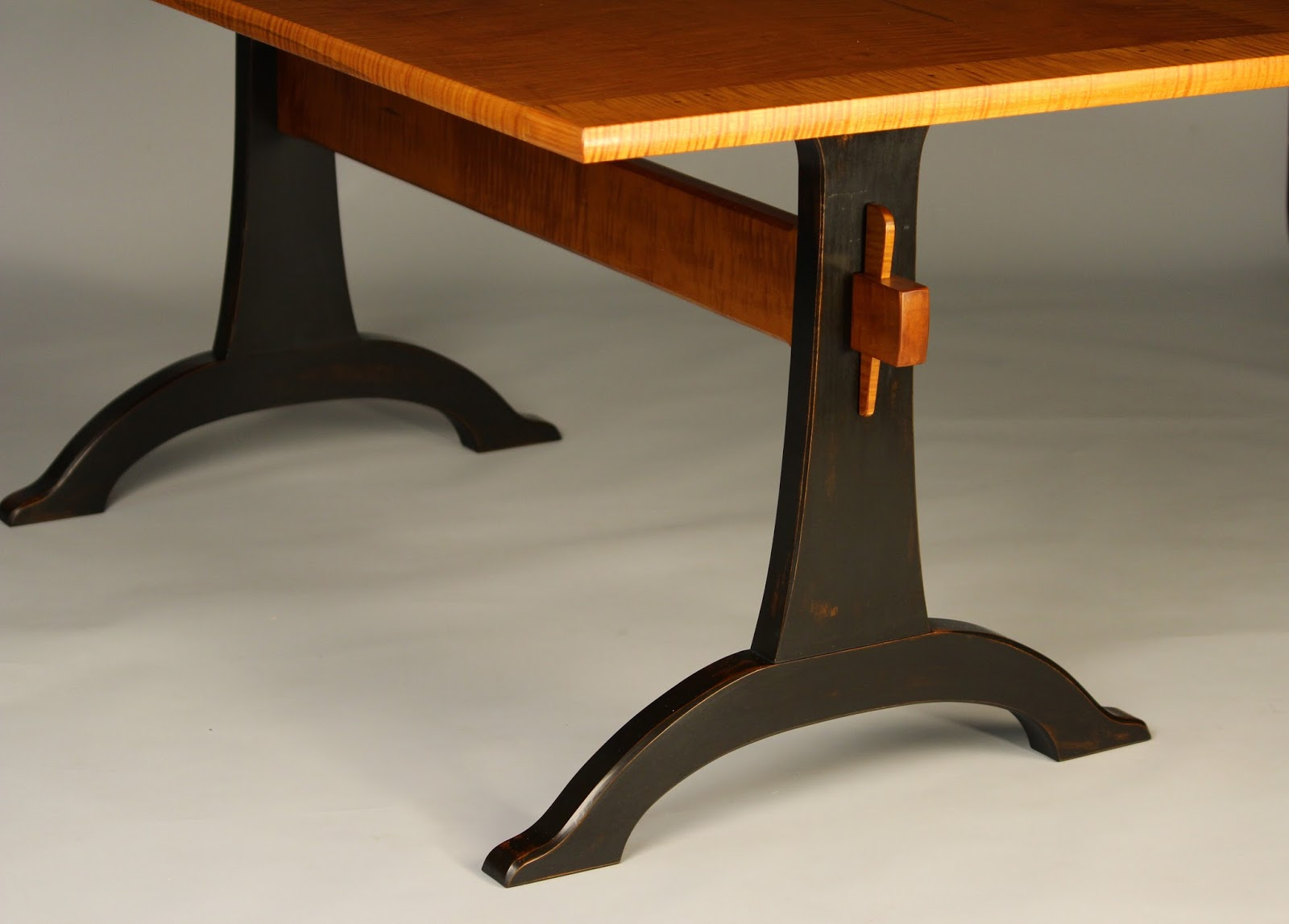 Completely new Doucette and Wolfe Fine Furniture Makers: Trestle Table DN87