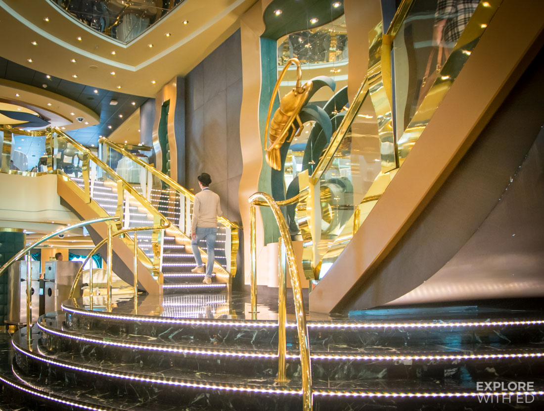 MSC The Golden lobster staircase