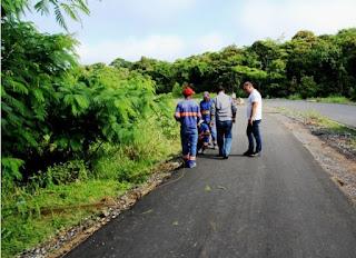 Prefeito Gilson Fantin visita à retomada de obras de pavimentação no município, após recesso de final de ano