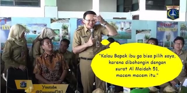 "Membedah Sisi Linguistik Kalimat Pak Basuki ""dibohongi pakai surat al-maidah 51"""
