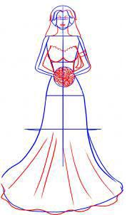 Langkah 3. Cara Mudah Sketsa Gaun Pengantin Wanita