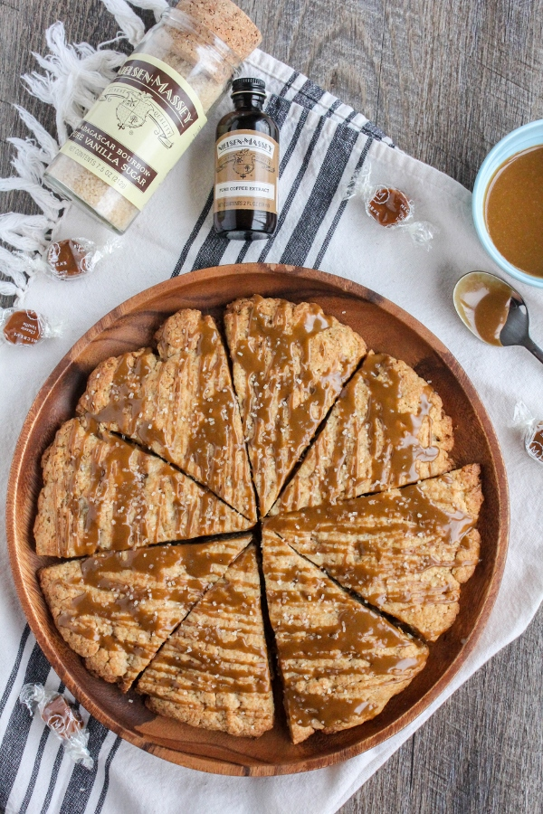 Tender, moist and flavorful, these Coffee Cream Scones with Coffee Glaze are perfect for breakfast, brunch, or afternoon tea!
