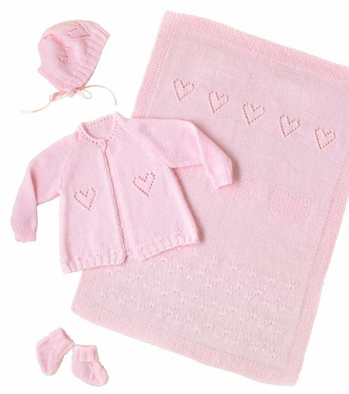 Rosy Garden Baby Set - Free Pattern