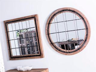 Espejos decoracion rustica industrial
