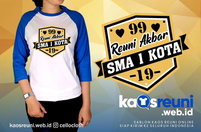 Desain Kaos Reuni Angkatan 1999 - 2019 SMA - Kaos Reuni