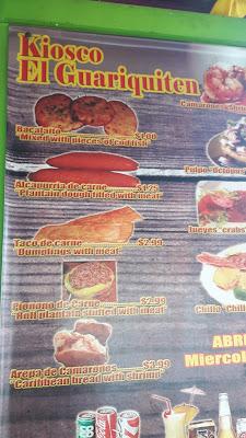 essen wie Puertorikaner - Speisekarte im Kiosco