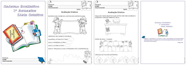 Caderno Avaliativo 1º Semestre Ideia Criativa Vol 1