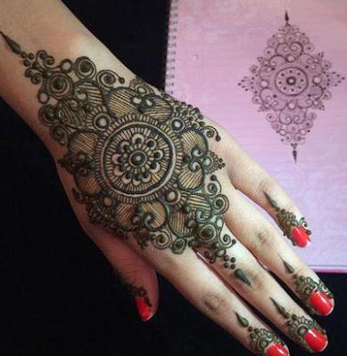 Simple Malabar Style Mehandi Design Mehandi New Designs