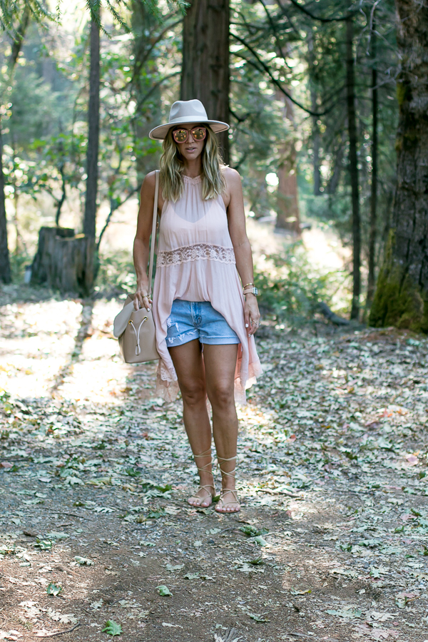 cute summer outfit with hat