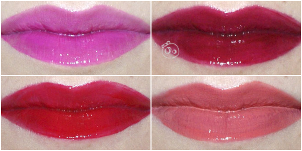 MAC Versicolour Stain Lip Swatches