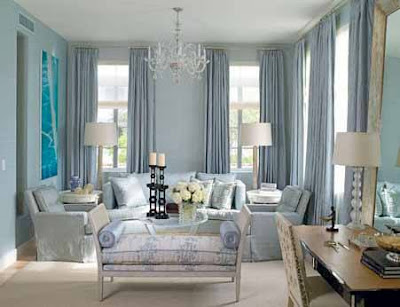 Warna Biru Yang Cerah Untuk Nuansa Ruang Tamu