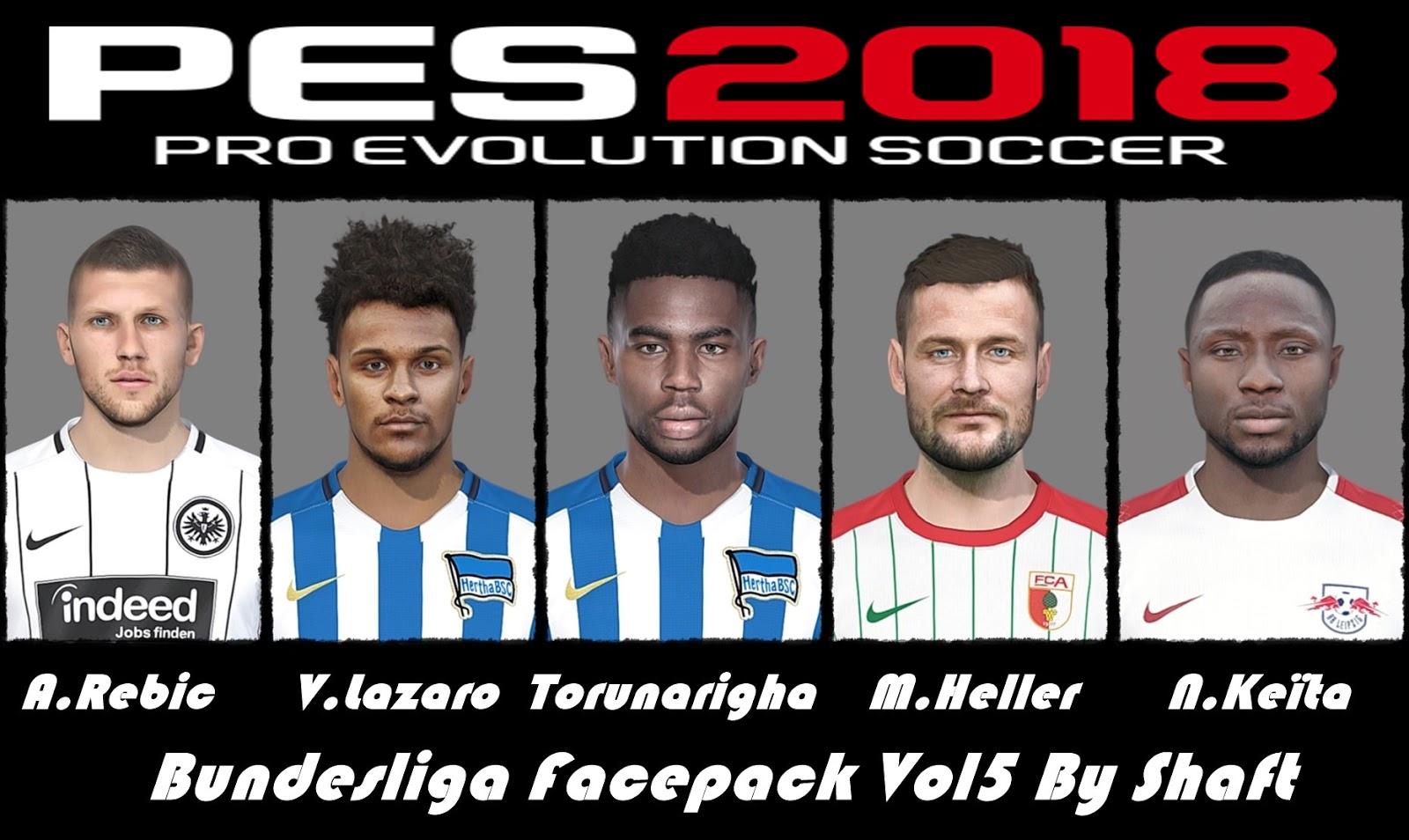 PES 2018 Bundesliga Facepack Vol5 by Shaft