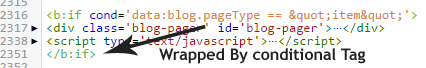 wrapping conditional tag