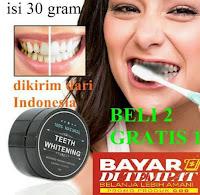 Pemutih Gigi Alami Teeth Whitening Activated Carbon 100 % Natural Aman Arang Pasta Gigi Karbon Aktif
