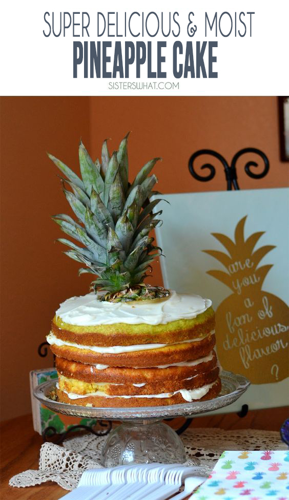 an amazingly moist pineapple cake that is made out of a yellow cake mix! perfect for a pineapple party
