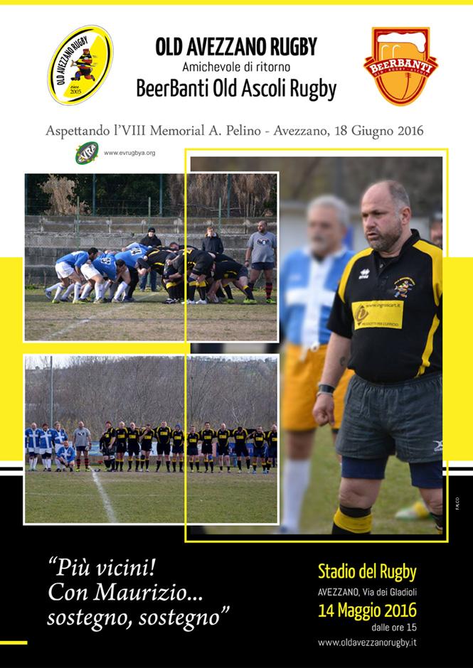 Locandina Rugby - Amichevole Avezzano vs Ascoli