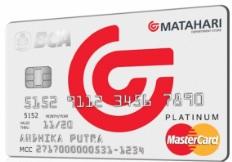 Design kartu Kredit BCA Matahari