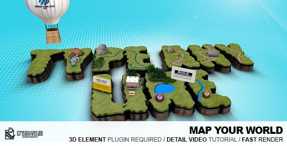 مشروع حصري لوجو على شكل خريطة   CS5 فأعلى