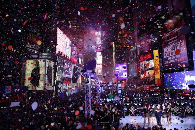 Menyambut tahun baru di kota besar