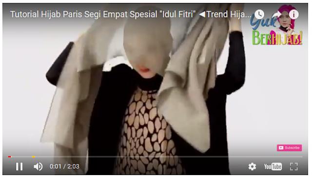 Tutorial Hijab Paris Segi Empat Spesial