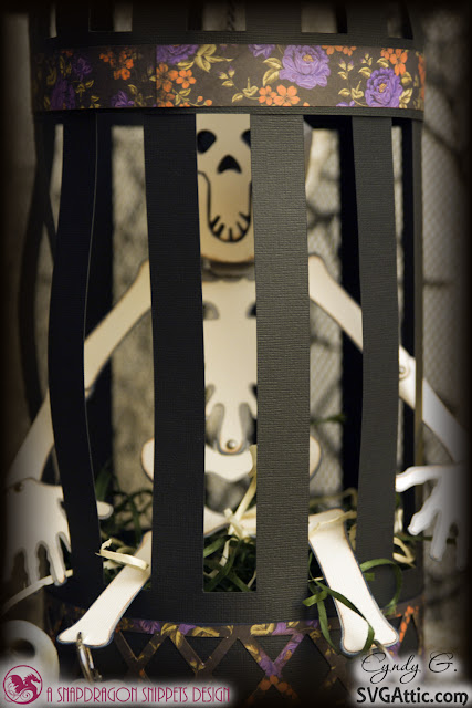 3d Svg skeleton in a cage