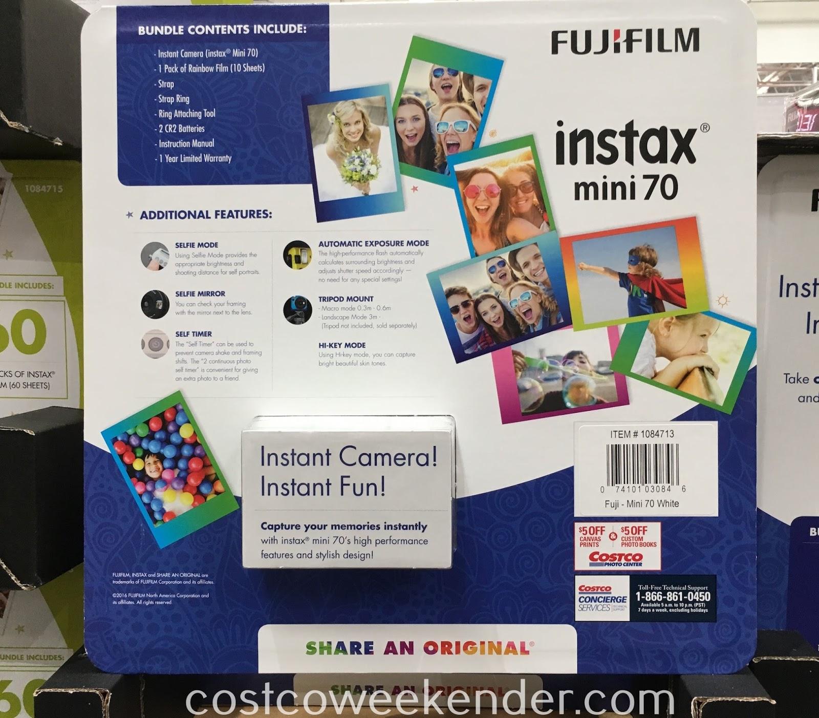 Costco 1084713 - Fujifilm instax Mini 70 Instant Camera - this generation's Polaroid