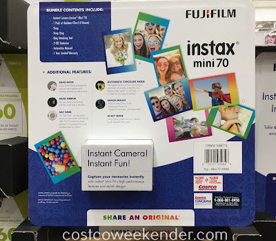 Costco 1084713 - Fujifilm instax Mini 70 Camera - this generation's Polaroid
