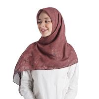 Jual Hijab Online Segi 4 Aruna Scarf - Terracota