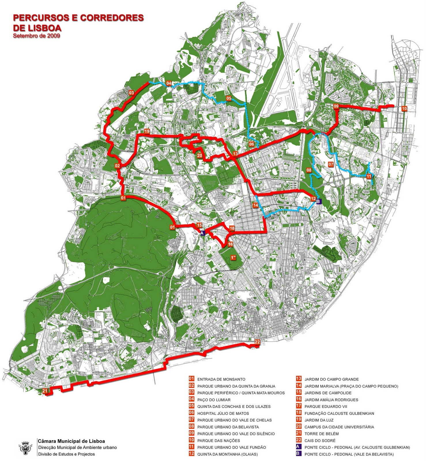lisboa ciclovias mapa Ciclovias em Lisboa lisboa ciclovias mapa