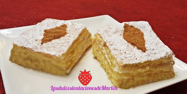 Milhojas De Crema Pastelera