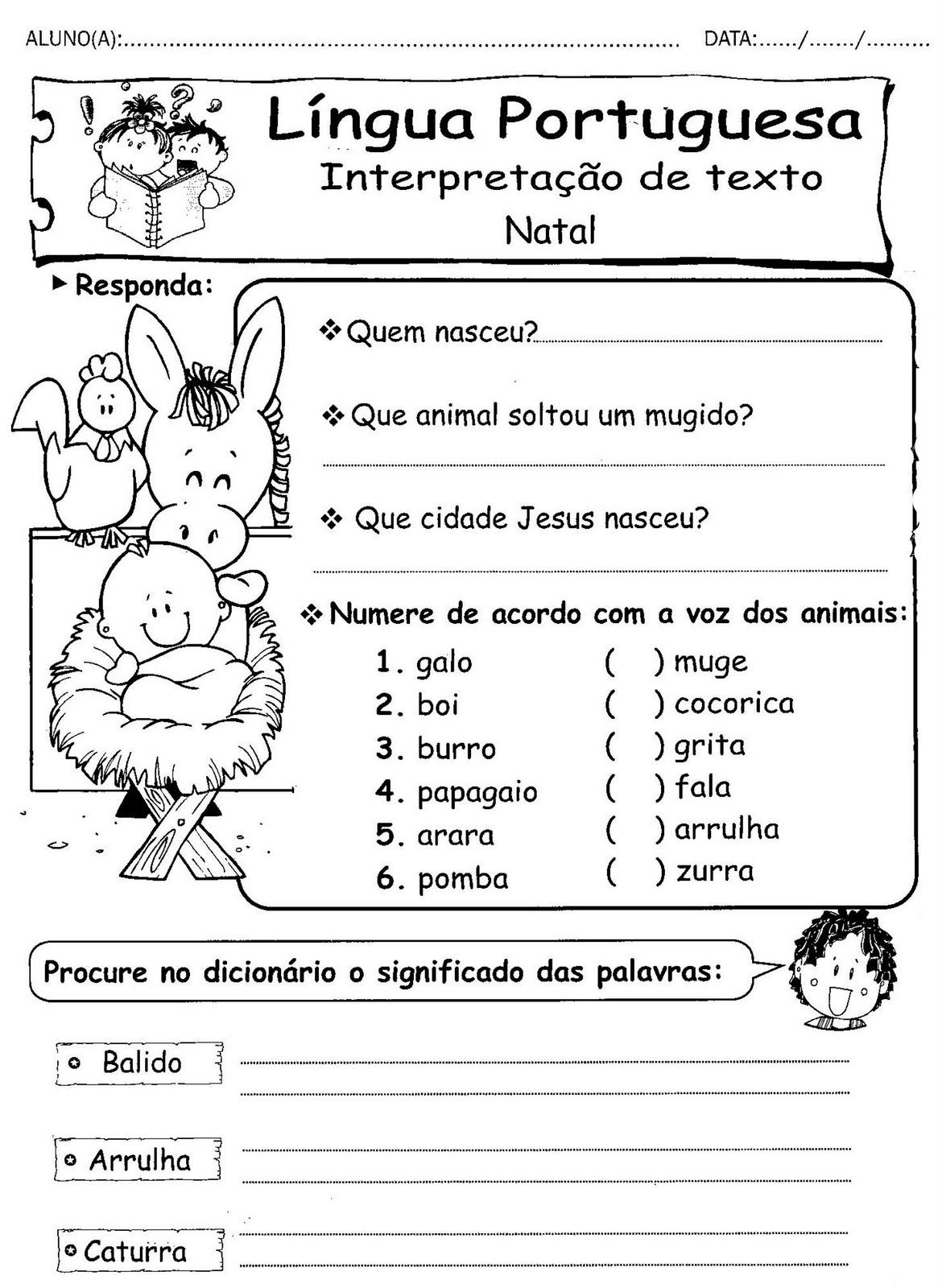 Atividades De Natal Textos Com Interpretacao Espaco Educar