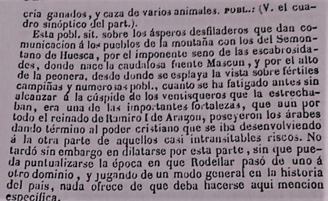 Historia de Rodellar