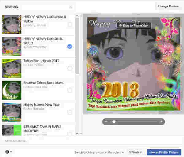 Cara Membuat Foto Profil Tahun Baru 2018 Happy New Year