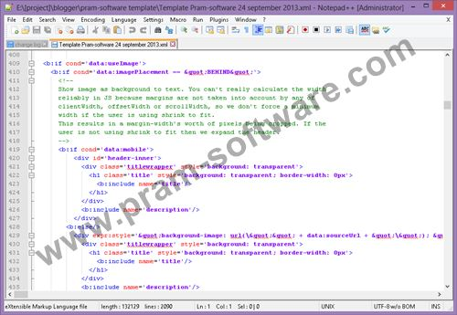 Screenshot Notepad++ 6.6