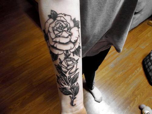 Forearm Flower Tattoos