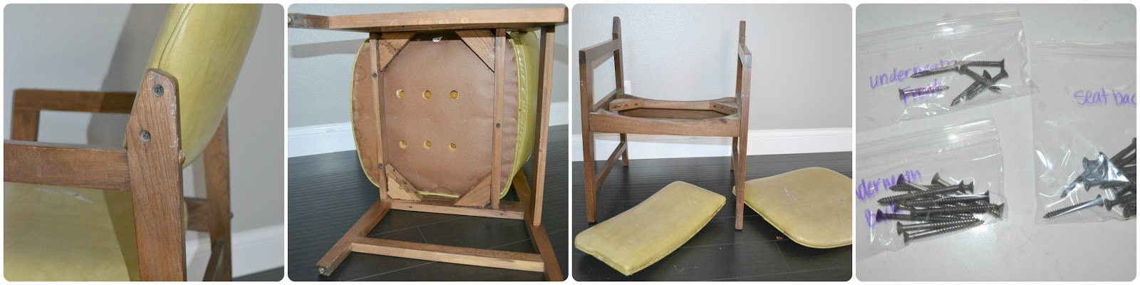Reupholster Dining Chairs Chair Folds Into Bed How To Restoring The Wood Frames Garage Sale Furniture Makeover