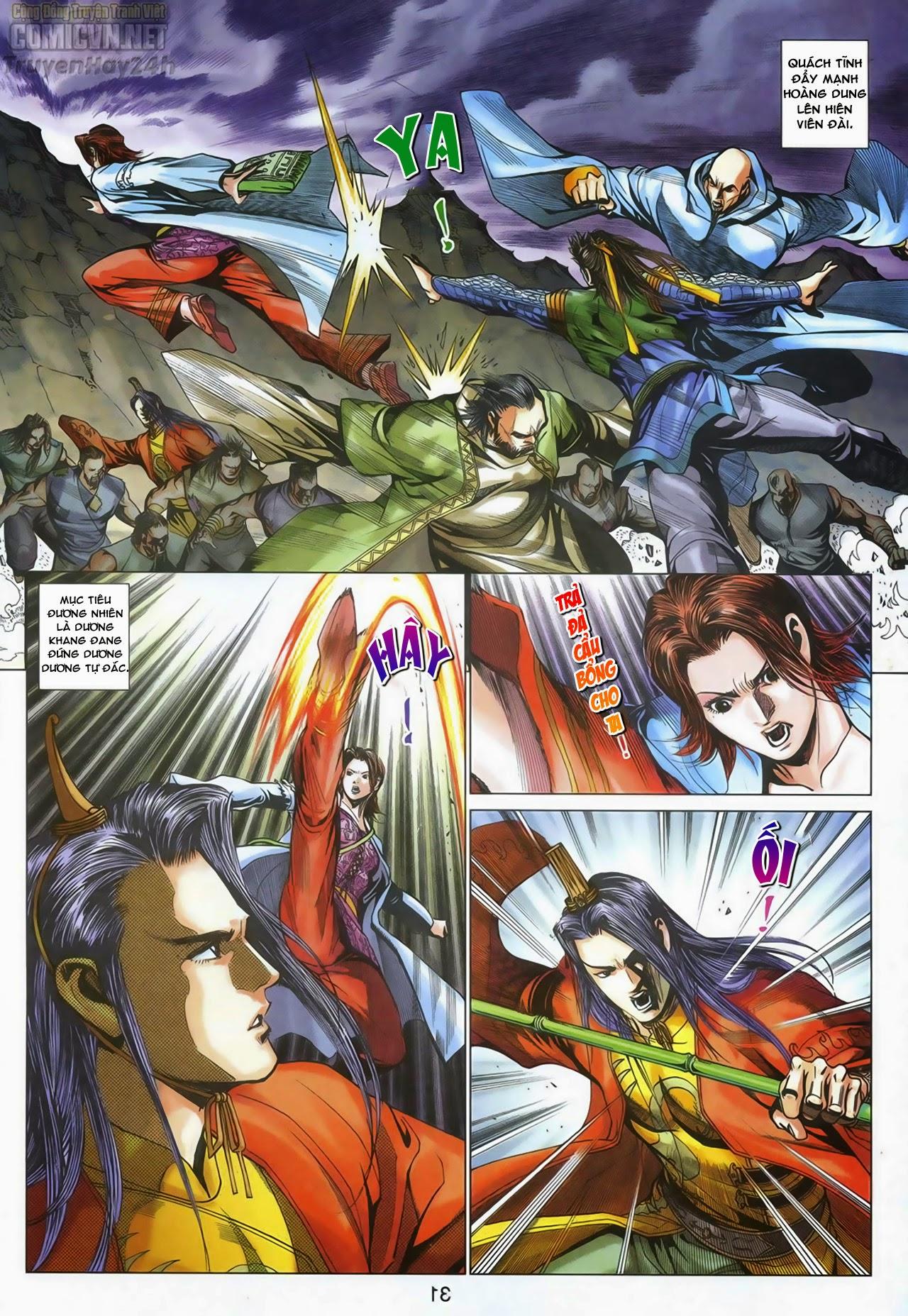 Anh Hùng Xạ Điêu anh hùng xạ đêu chap 67: quyết chiến hiên viên đài trang 30