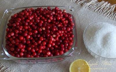 Preparare dulceata de merisoare - etapa 1