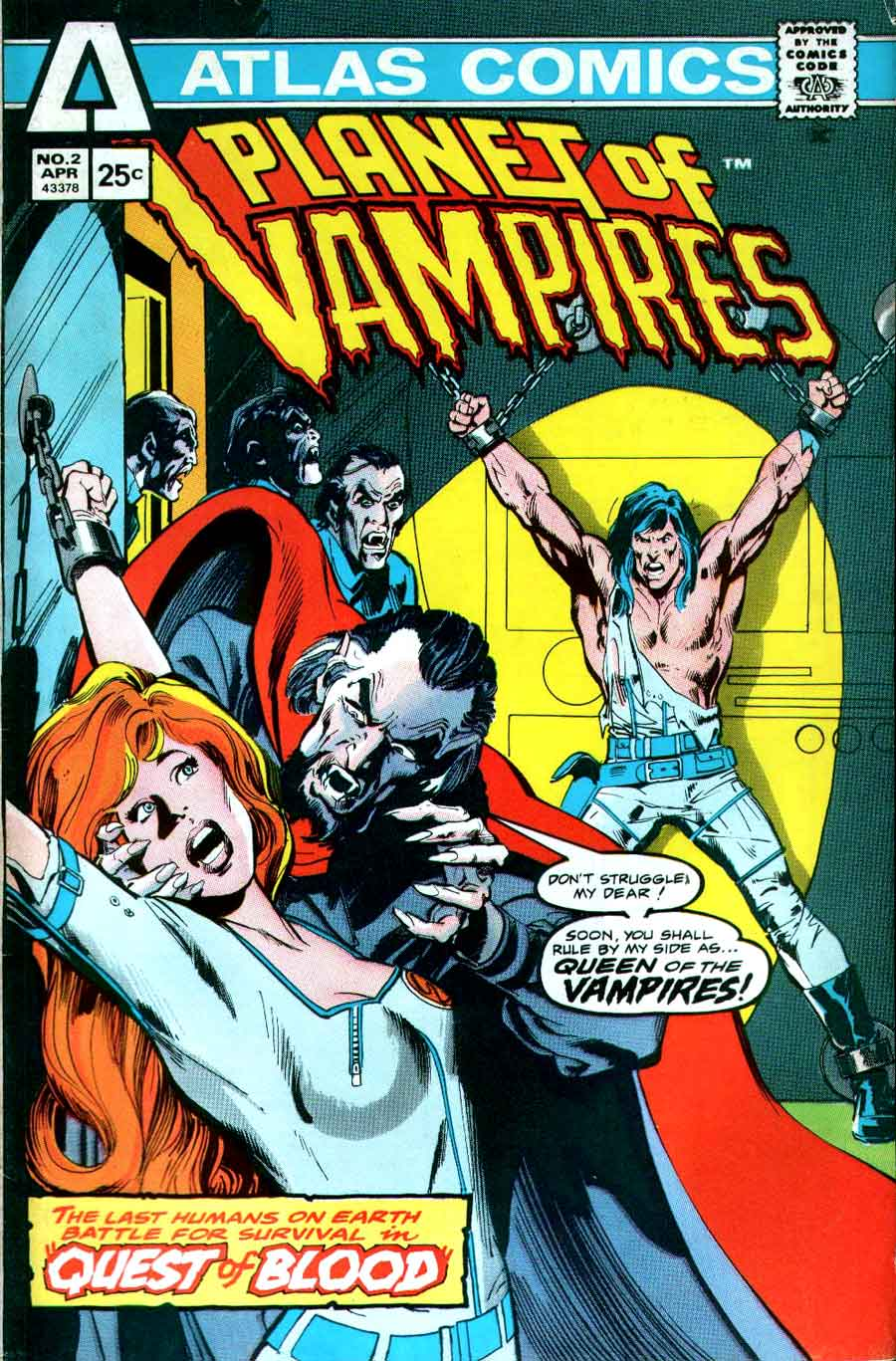 Planet of Vampires v1 #2 1970s bronze age comic book cover art by Neal Adams