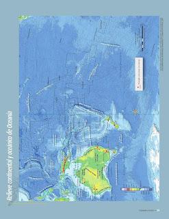 Apoyo Primaria Atlas de Geografía del Mundo 5to. Grado Capítulo 2 Lección 1 Relieve Continental y Oceánico de Oceanía