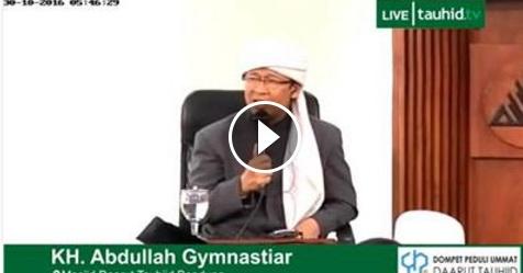 VIDEO: Terkait Aksi Demo Umat Islam Besar-Besaran Tanggal 4 November, Begini Reaksi Dari Aa Gym