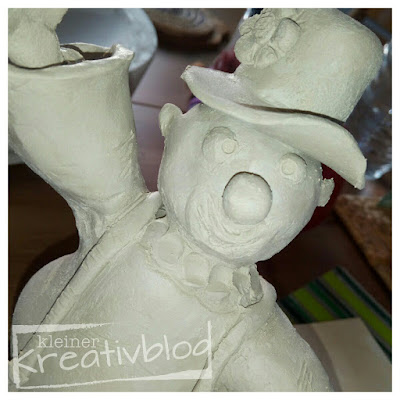 www.kleiner-kreativblog.de: Clown, getöpfert