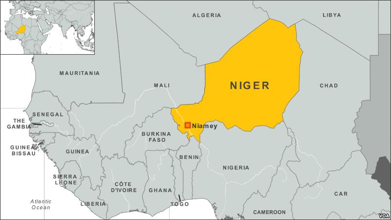 niamey niger africa map