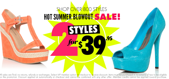 JustFab has a smokin' deal on shoes right now! You can choose from quite a few select styles and snag 2 pairs for only $, as they are having a Buy One, Get One FREE sale.