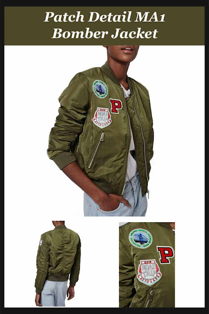 Patch Detail MA1 Bomber Jacket - a retro feel bomber jacket