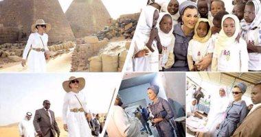 صور السودان - زيار الشيخة موزا لاهرامات السودان