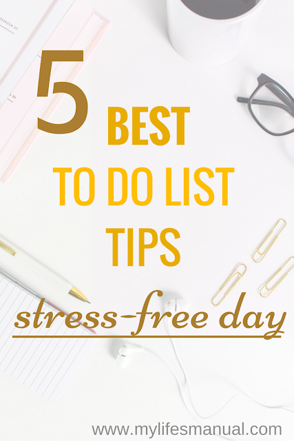 To do list tips to be productive