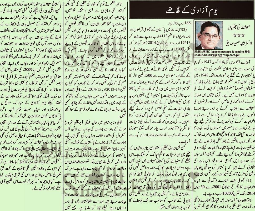 Youm e azadi short essay in urdu